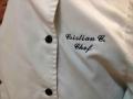 Nombre cocinero bordado en delantal